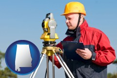 alabama a surveyor with transit level equipment