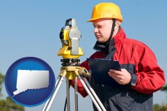Connecticut - a surveyor with transit level equipment