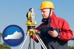 kentucky a surveyor with transit level equipment