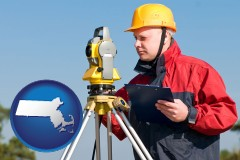 Massachusetts - a surveyor with transit level equipment