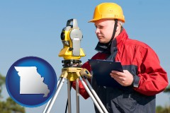 missouri a surveyor with transit level equipment