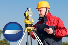 Tennessee - a surveyor with transit level equipment