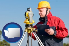 washington a surveyor with transit level equipment